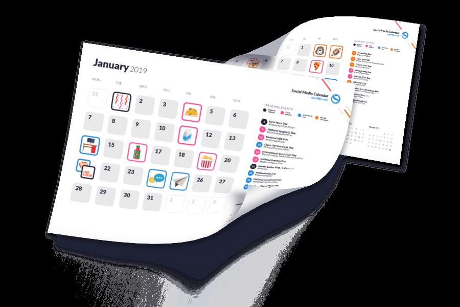 social media calendar artwork