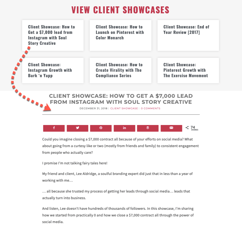 Client showcases by marketing agency, Onlinedrea