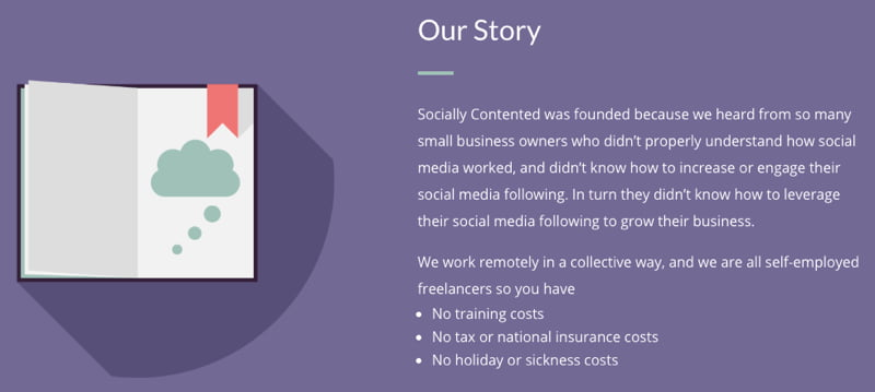 The story of social media marketing agency, Socially Contended