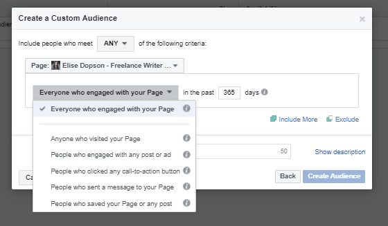 How to create a specific, custom audience for Facebook advertisements