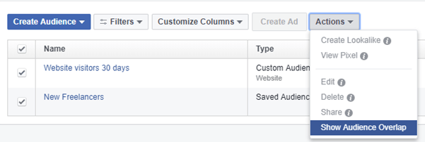 You have the ability in Facebook to check how many audiences overlap