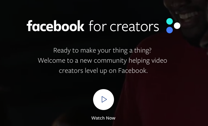 The Facebook for Creators website is a great resource for creators