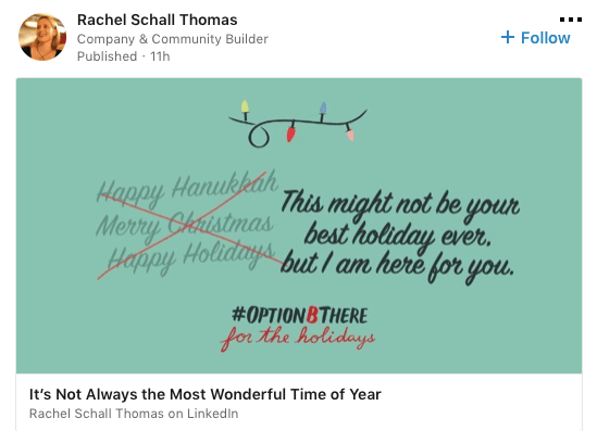 Share some wisdom on LinkedIn during the holidays