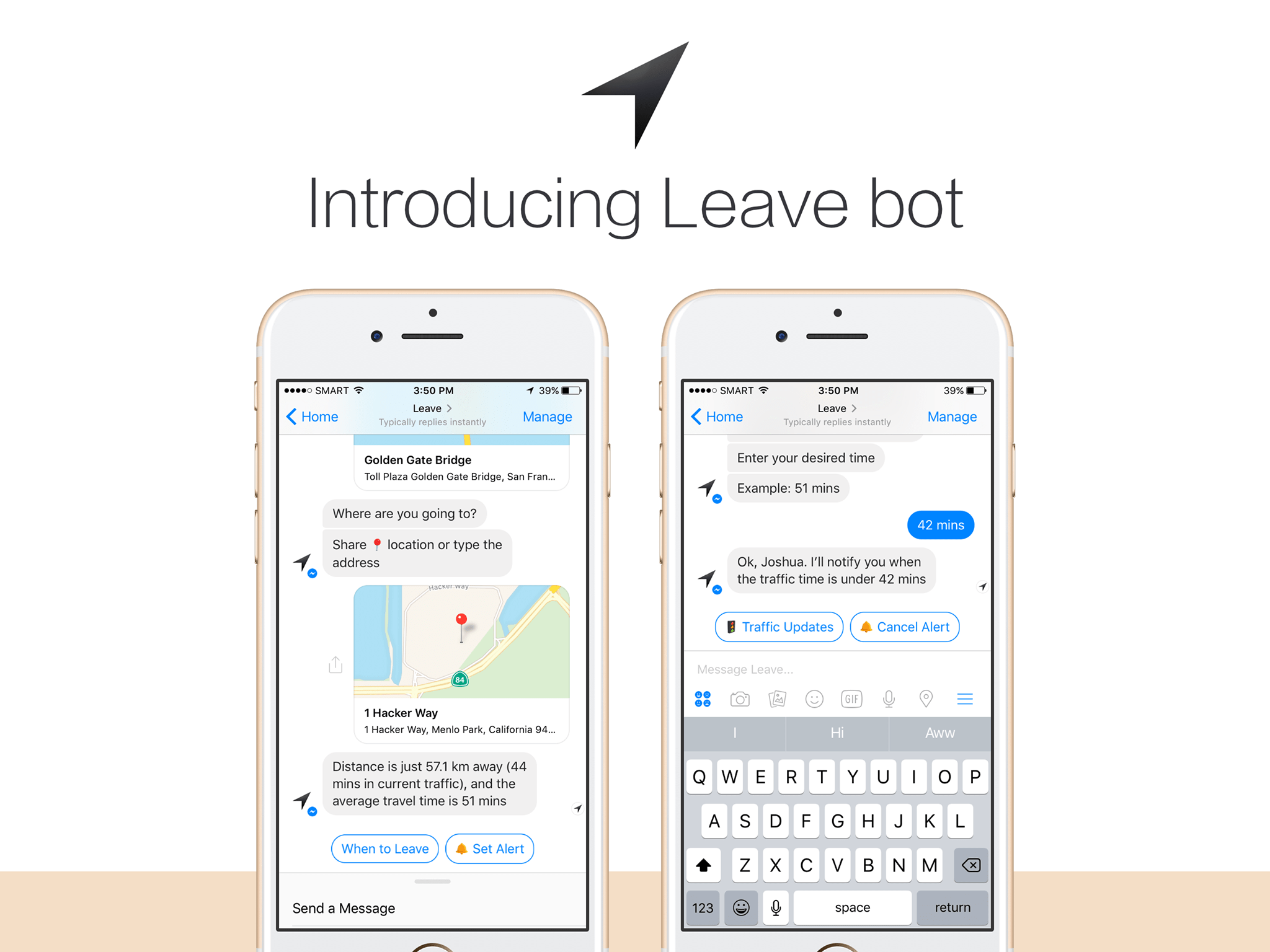 This mobile app helps people avoid traffic by using chatbots