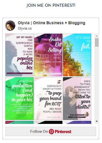 Example of ways to integrate Pinterest on your website