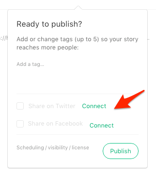 Easily publish your Medium stories on Facebook or Twitter