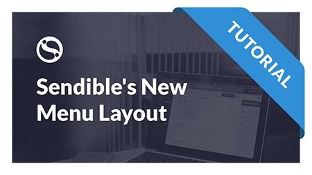 Sendible's New Dashboard Menu Layout