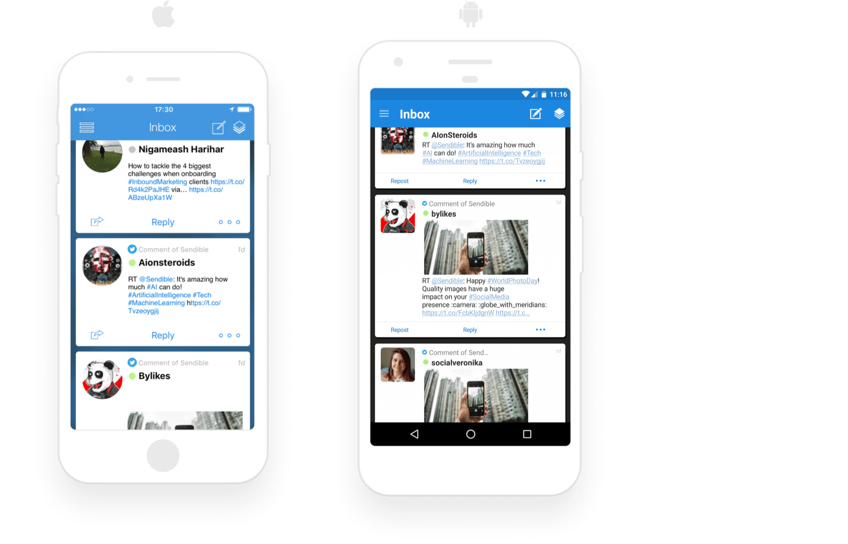 Respond to incoming messages from anywhere