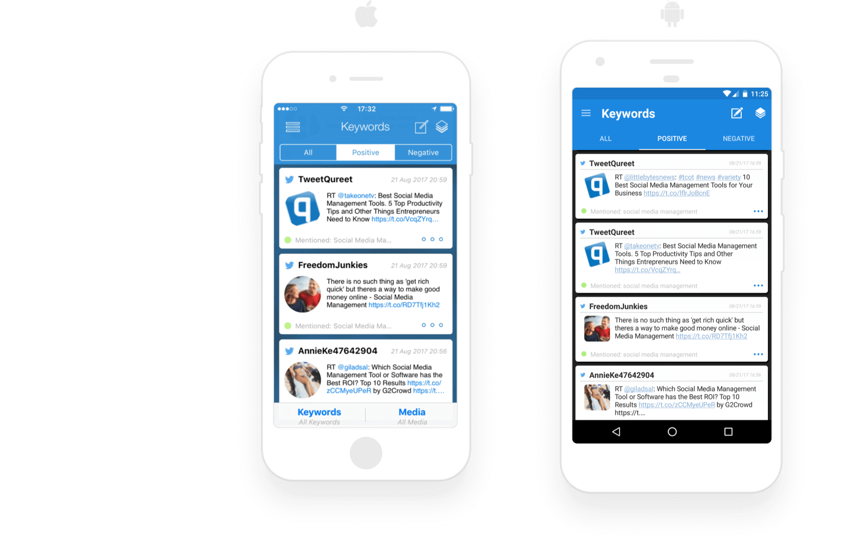 Act on social listening opportunities while mobile