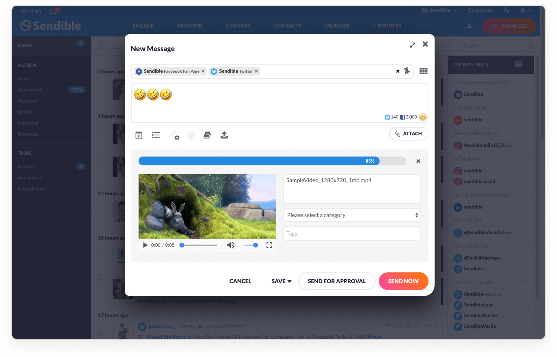 Add videos, images & emojis to boost engagement