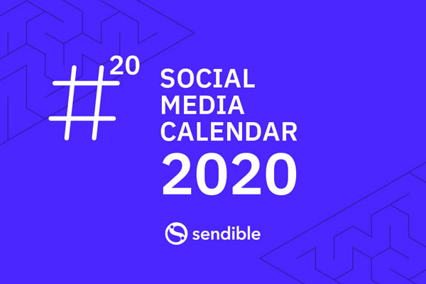 cover image for social media holiday calendar 2020