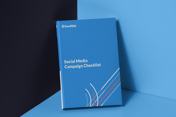 cover for social media campaign checklist PDF