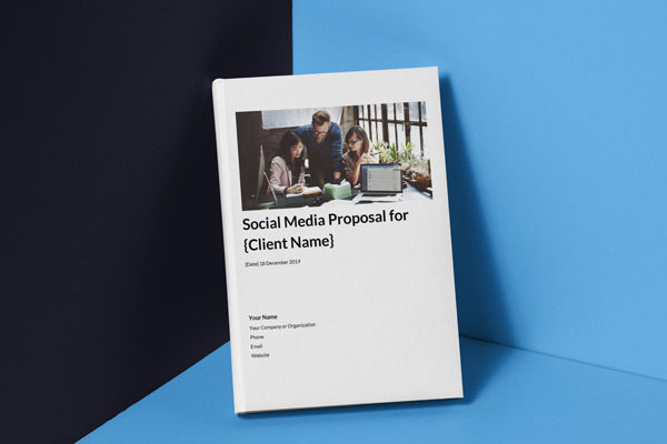 cover photo for the social media proposal template